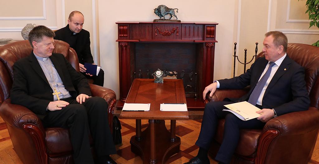 Nuncij Jozić s bjeloruskim ministrom vanjskih poslova - IKA